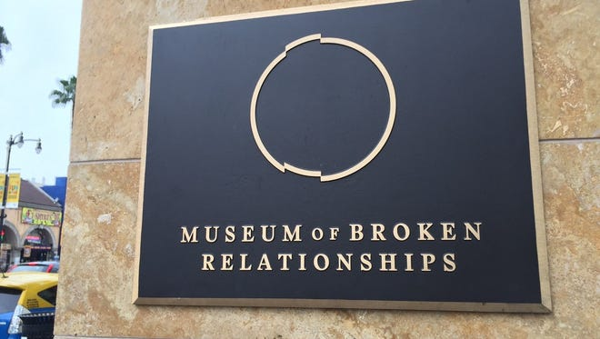 The Museum of Broken Relationships in Los Angeles is located on Hollywood Boulevard.