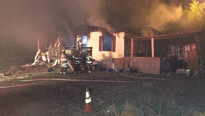 Firefighters responded to a a fatal fire on Seneca Creek Road.
