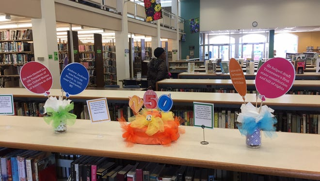 The downtown Jackson-Madison County Library created a special display in honor of President Andrew Jackson's 250th birthday on Wednesday.