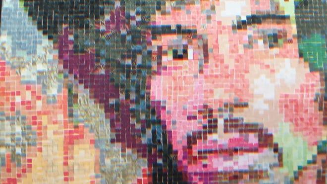 Connie Berkemeier's wallpaper portrait of Jimi Hendrix.