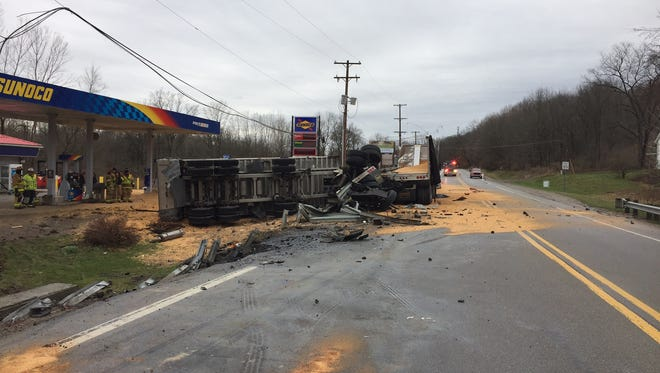One person was killed in a crash involving two commercial trucks and a pickup truck on Wednesday in Ionia County's Boston Township, west of Ionia.