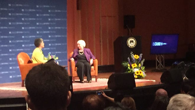 Fed Chair Janet Yellen visited the University of Michigan Monday to discuss the economy.