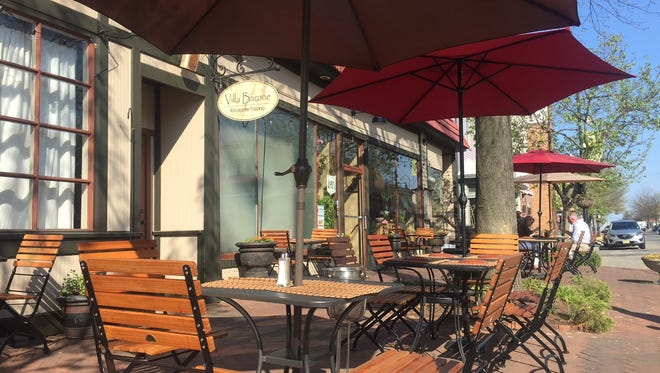 Villa Barone is a long-time destination on Haddon Avenue in Collingswood. The restaurant offers outdoor seating for pizza and Italian fare.