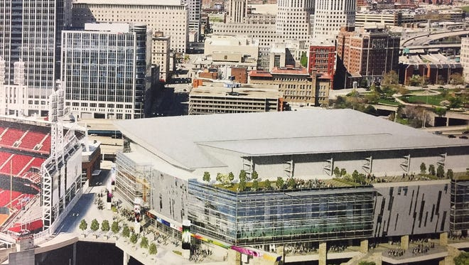 The proposed new arena on Cincinnati's riverfront, after a $250 million to $350 million renovation