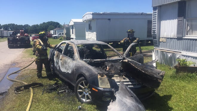 The Scott Fire Department is investigating a vehicle fire that occurred Monday afternoon.
