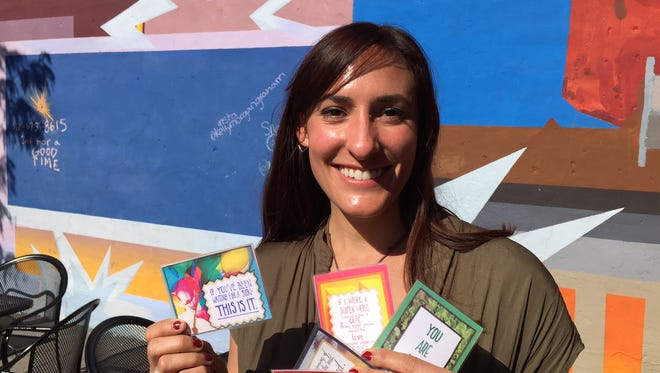 Andrea Stumpf is hoping to launch her kindness card game with help from a Kickstarter campaign.