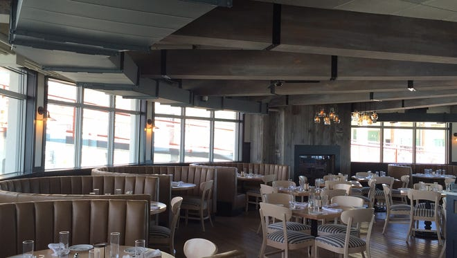 The renovated dining room at The Robinson Ale House on the Asbury Park boardwalk.