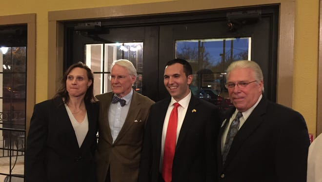 From left, the candidates running for a Morris County freeholder seat in the June 6 Republican primary are Heather Darling of Roxbury, Nicolas Platt of Harding, Mike Crispi of Hanover, and Dave Scapicchio of Mount Olive.