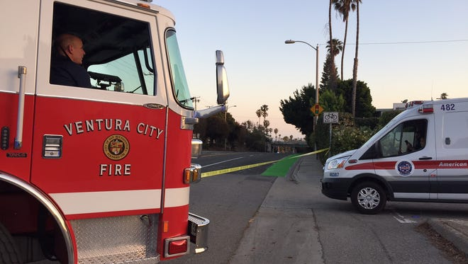 Medical crews were called to the scene of a person threatening to jump off a bridge above Seaward Avenue in Ventura.