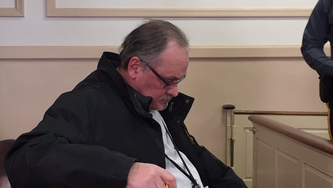 Robert Guidi in Superior Court, Morristown in March 2017 before his guilty plea to theft and violating the state's Stolen Valor Act.