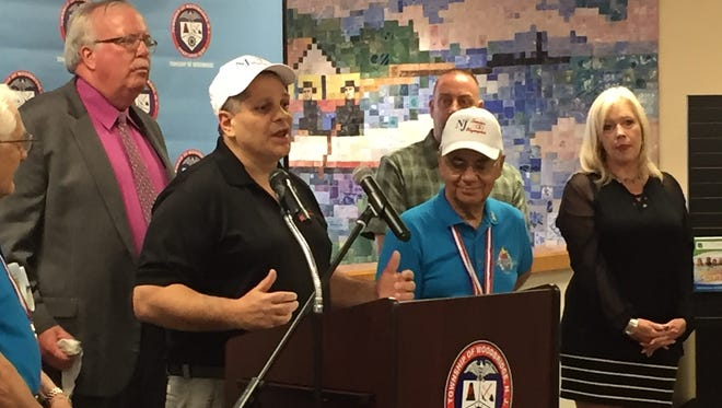 Michael Garamella, executive director of the New Jersey Senior Olympic Committee, speaks Friday about this year's event to be held in Woodbridge in September.