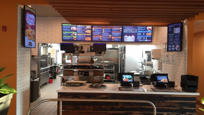Back Yard Burgers will open with a new design this week on North Parkway.