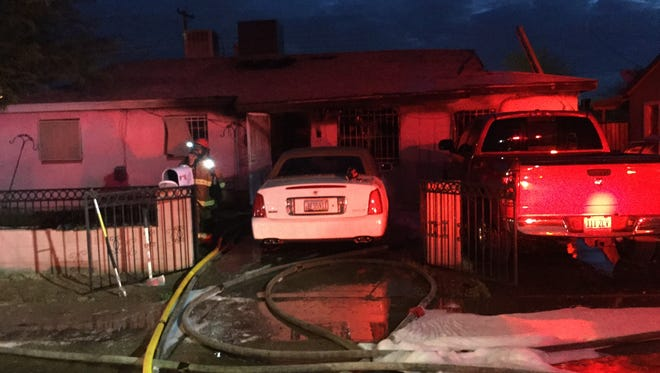 A man died and a woman was critically injured in a house fire at this residence near 16th Street and Roeser Road in Phoenix on July 25, 2017.