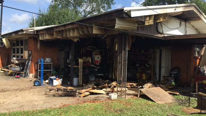 A home was heavily damaged in a fire Thursday night.