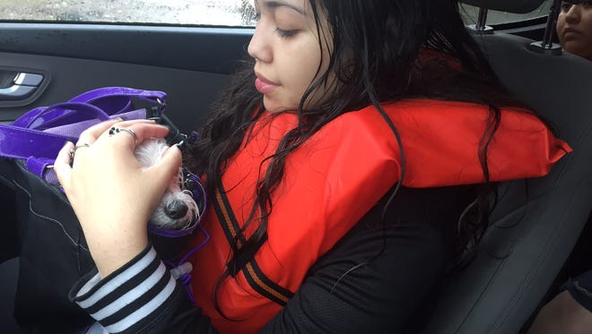 Marissa Nunez, 19, who was rescued Aug. 27, 2017, along with her family in northeast Houston.