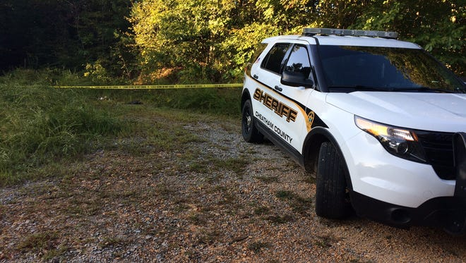 The Cheatham County Sheriff's Office and TBI were on scene Sunday morning after human remains were found in a burned vehicle Saturday in Ashland City.