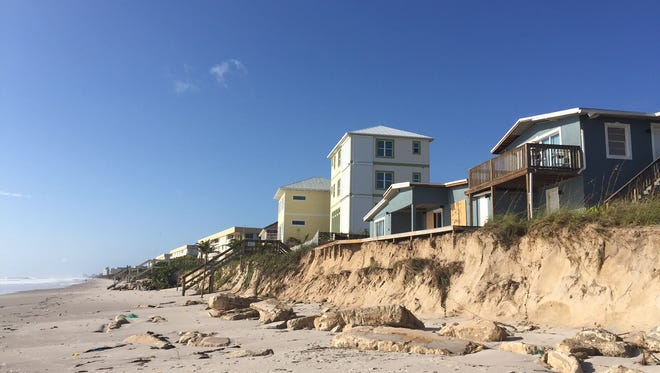 This was the view from near the north end of Shell Street in Satellite Beach, looking south, after Hurricane Irma.