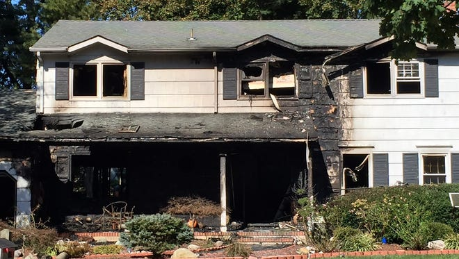 A resident escaped injury in a fire that broke out in a Williamsburg Court home in East Brunswick on Thursday morning.