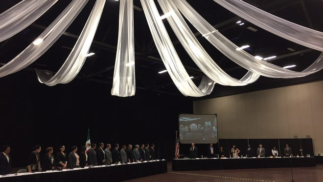 The El Paso and Juárez city councils held a joint meeting Monday at the Judson F. Williams Convention Center.