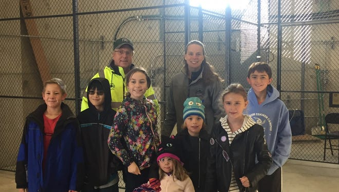 Farmington Hills DPW Superintendent Kevin McCarthy and Public Services Director Karen Mondora gave a tour of the water tower to students from the Farmington STEAM Academy.