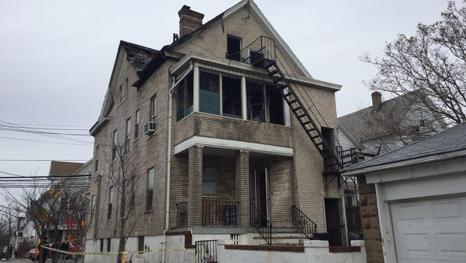 Twelve people were displaced early Friday morning when a fire broke out in a two-story dwelling on Somerset Street.