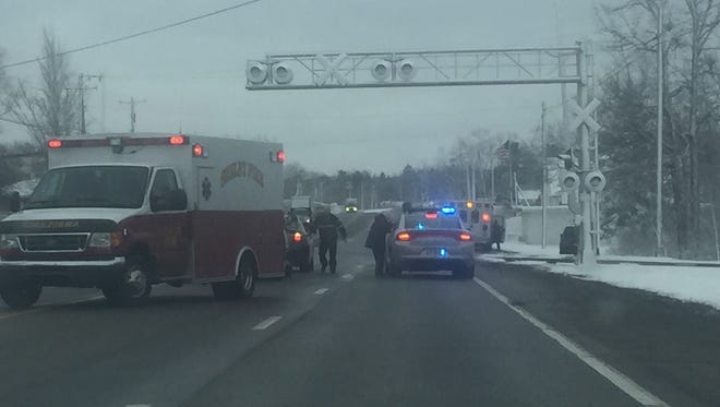 Two vehicles were involved in a crash around 10:30 a.m. Friday on Ohio 39 nears Cairns Road, at the railroad tracks.