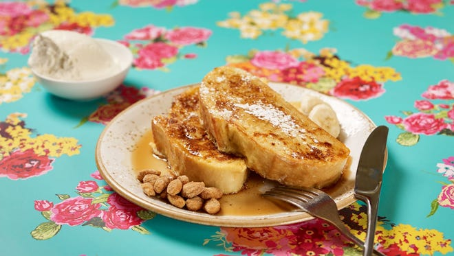 Nada's bananas Foster French toast, part of their Easter menu