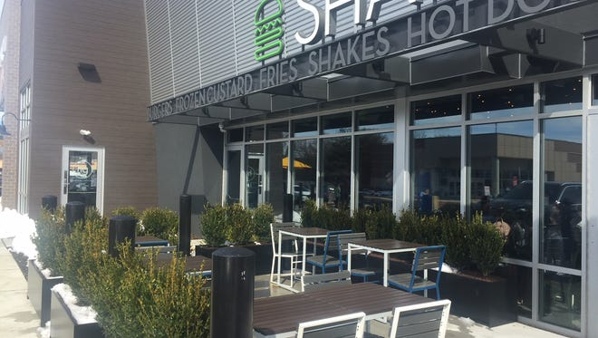 Shake Shack in Marlton can seat about 20 guests on its new patio. Next door, honeygrow also offers patio seating.