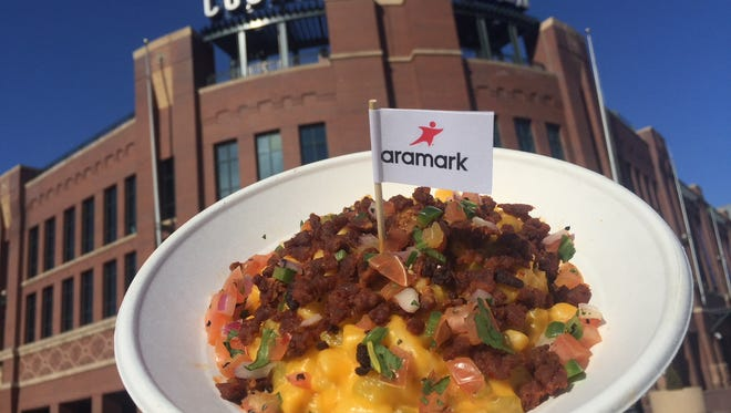 A new mac and cheese dish at Coors Field.