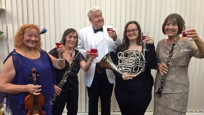 Maestro Mark Nelson will get the female' perspective from violinist Loretta Weierich, Nancy Anderson on oboe, Jessica Finn on French horn and Jean Allan on oboe during back-to-back concerts that toast Wine, Women & Song.