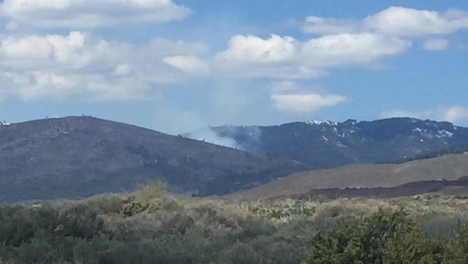 Smoke rises from a prescribed burn in Dog Valley on Wednesday, May 2.