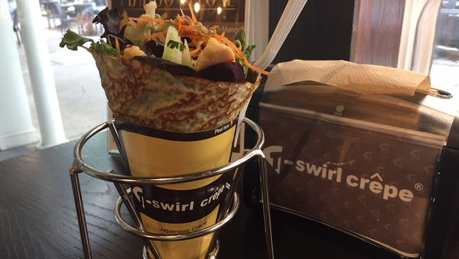 A T-swirl Crepe comes in its own easy-to-carry cone in Haddonfield.