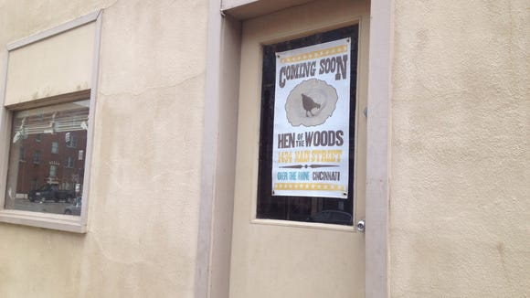 Sign in window of Hen of the Woods space.