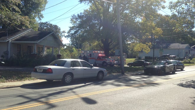 A victim was shot in the side during a home invasion in the 600 block of Whitehall Street this afternoon.