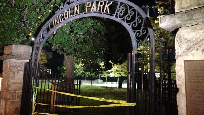 New Rochelle police were in Lincoln Park investigating a shooting that occurred Sunday, October 12, 2014.