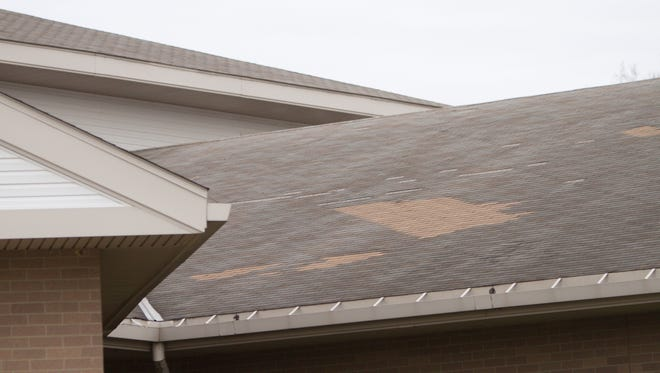 The vaulted rooftop of Kreeger Elementary in Fowlerville requires repairs that are being proposed in an upcoming bond.