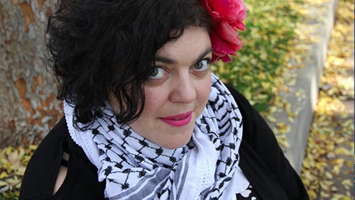 Fresno State faculty photo of English Professor Randa Jarrar
