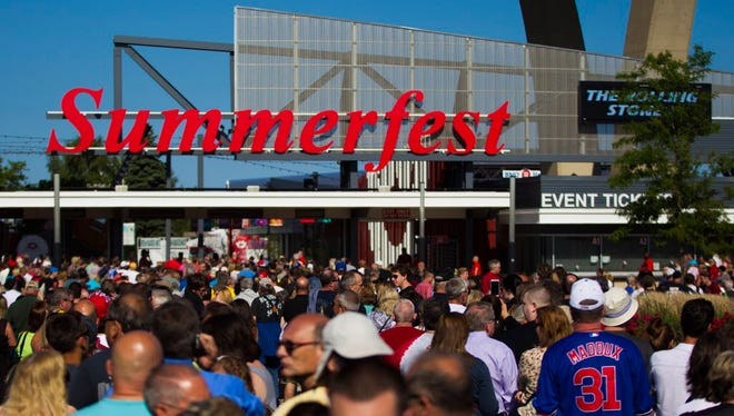 Summerfest will not allow backpacks or large bags onto the grounds this year.
