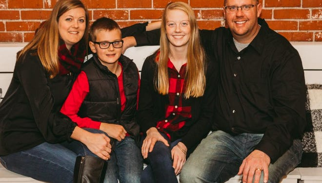 A benefit for Tate Schaefer, shown here with his family, from left, Darcy, Tate, Teagen and Brad, will be held from 4 to 8 p.m. Saturday, Jan. 19, at the Williamsburg Rec Center. Tate was diagnosed with a rare type of brain tumor in December.