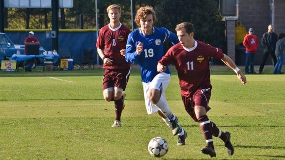 Roberson alum Paul Egle (19) is a senior on the UNC Asheville men's soccer team.