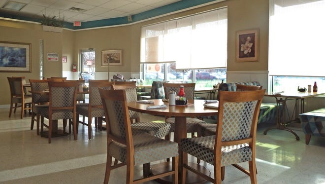 Tables and booths inside Frontier Family Restaurant at 1755 Boyrum St. on Wednesday, Jan. 4, 2017, in Iowa City.