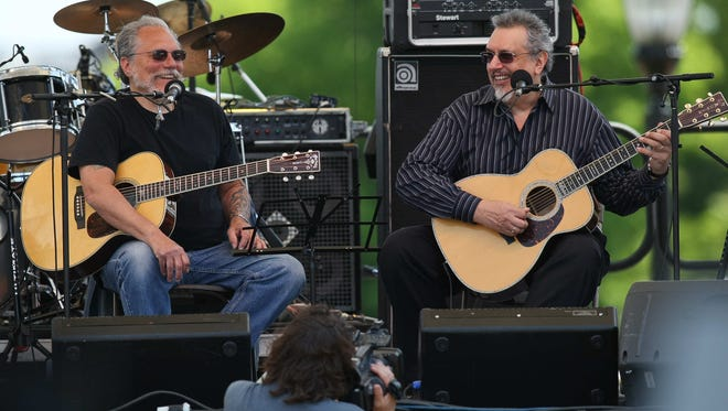 David Bromberg (right) and Jorma Kaukonen, founding member of Jefferson Airplane, perform together at Bromberg's Big Noise in the Neighborhood music  festival in Wilmington in 2010.