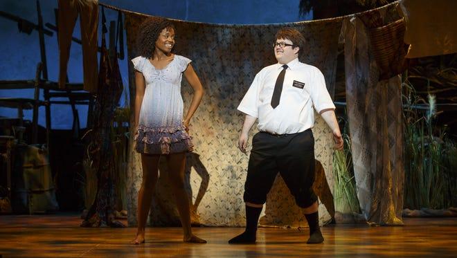 "Denèe Benton and Cody Jamison Strand in ""The Book of Mormon."""