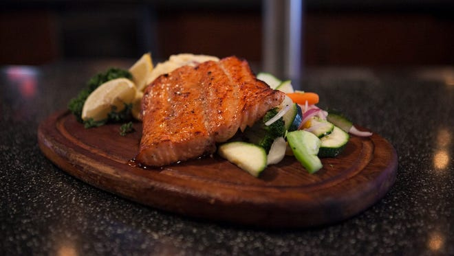 E.G. Nick's will offer its cedar-planked bourbon salmon as an entree option during Plymouth Restaurant Week, Sept. 25-Oct. 3.