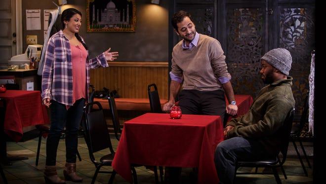 Lipica Shah, Neimah Djourabchi and Clinton Lowe in 'The Lake Effect.'