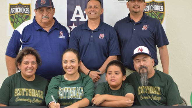 Mayfield softball player Alexandria Garibay has signed to play at Scottsdale Community College.