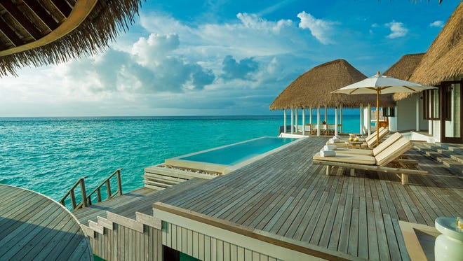 Como Maalifushi is situated on the pristine Thaa Atoll in the Maldives, known for its diving and surf breaks. The property's two-bedroom overwater Como villas, priced at $1,400 per night including breakfast, sit above the turquoise lagoon with their own private pool and butler .