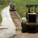 Road reconstruction progresses southward on County Road 3 Thursday between County Roads 18 and 70.