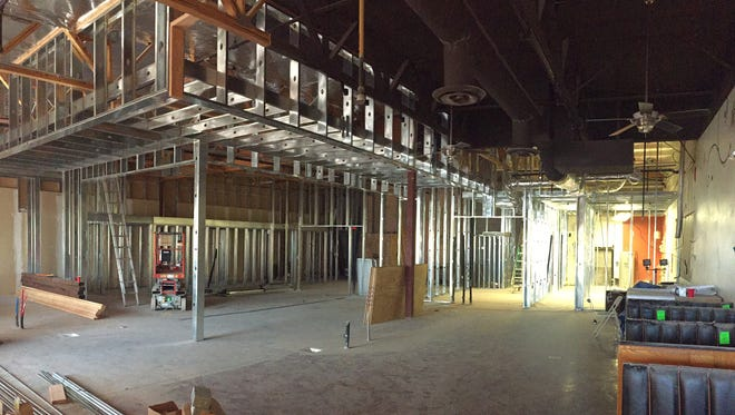 Interior progress of Black Mountain Tavern and Distillery in Cave Creek.