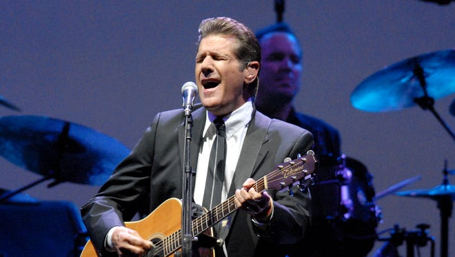 Glenn Frey sings during the Eagles concert in 2008 at the Resch Center.